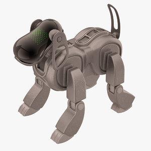 aibo dog sony 3d max