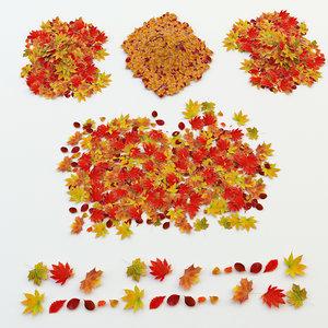 autumn leaves 3d max
