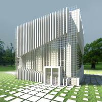 3d model modern house 03
