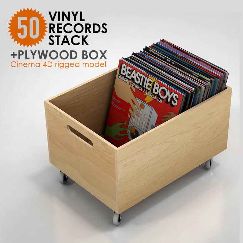 3d box vinyl record 50