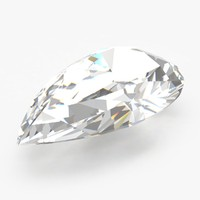 pear diamond 3d model