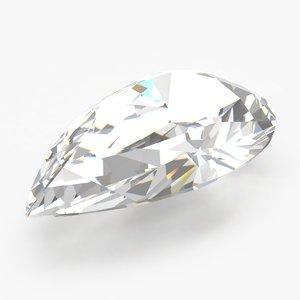 pear diamond 3d model