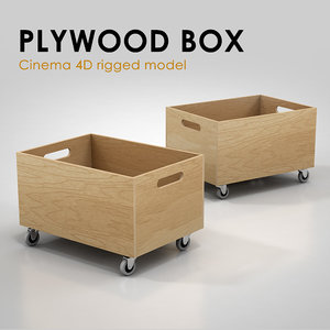 box plywood rigged 3ds