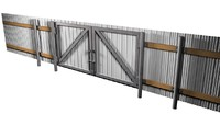 3d model metal fence gates