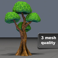 Tree Toon Ficus 3 mesh