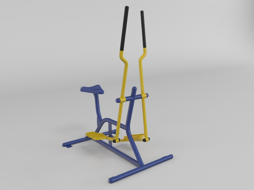 outdoor fitness gym equipment 3d model