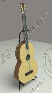 clasic guitar 3d blend