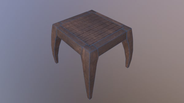 3d model table pbr vr