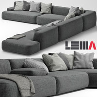 3d lemamobili cloud sofa model