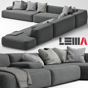 3d lemamobili cloud sofa model