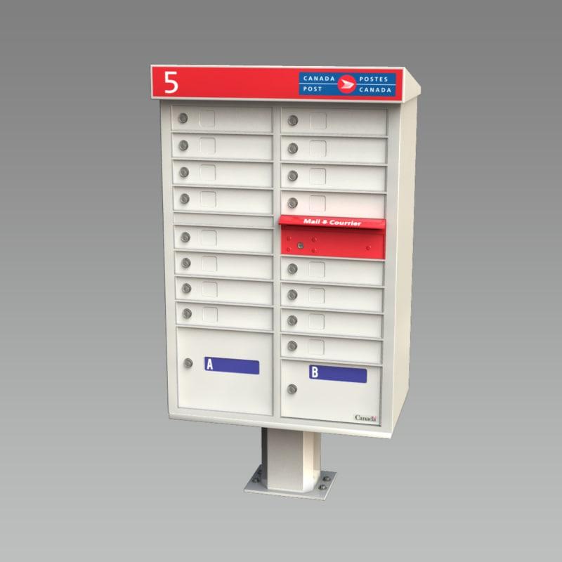 canada post mailbox mail box 3d model
