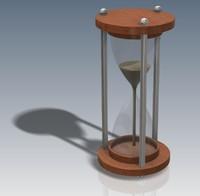 3d model hour glass