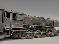 3d german steam locomotive loco