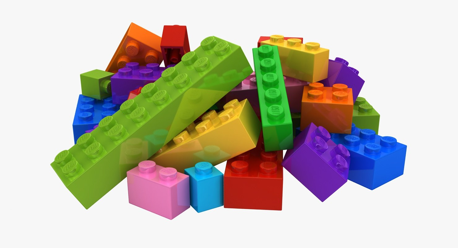 max realistic lego bricks pose