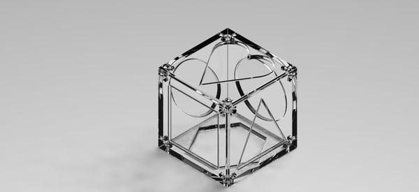 cube kinder 3d obj