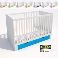 3d model ikea stuva crib