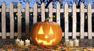 max halloween jack-o-lantern candles