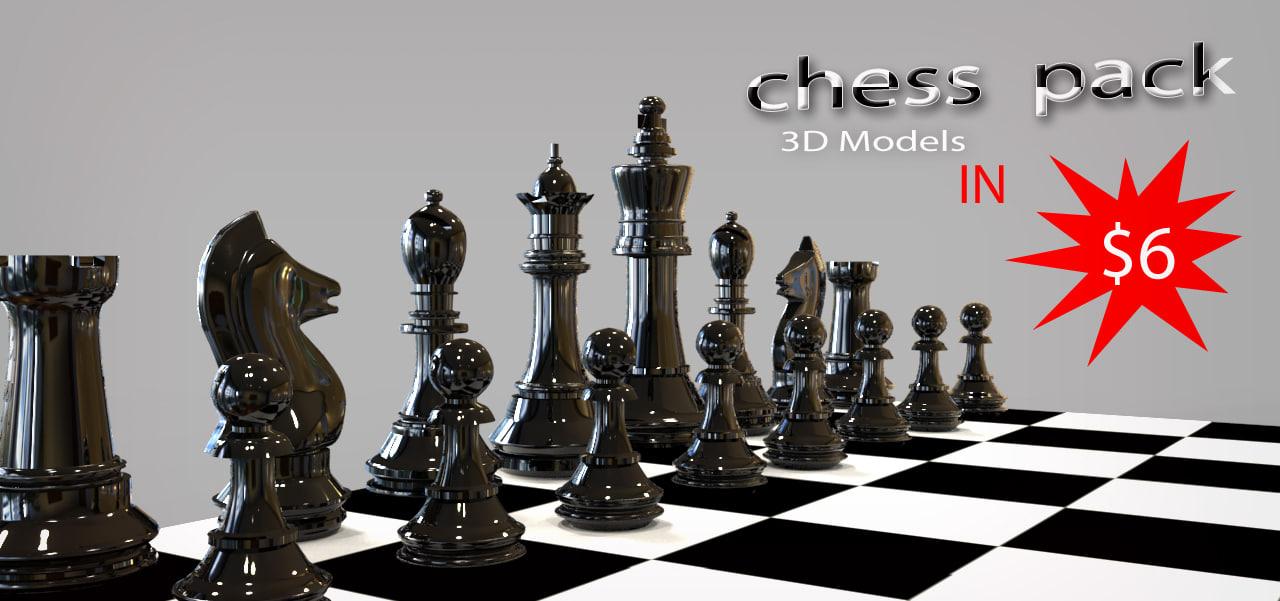 mesh chess board 3d max