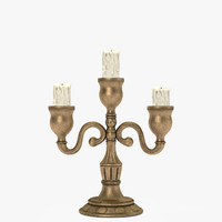 candle holder old 3d 3ds