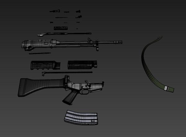 3d max korean k2 gun
