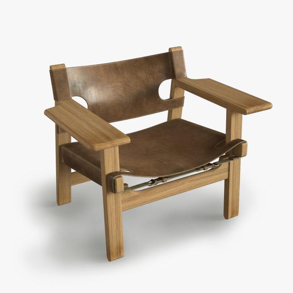 3d model mogensen spanish chair