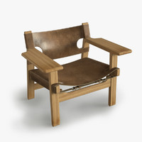 3d model mogensen spanish chair