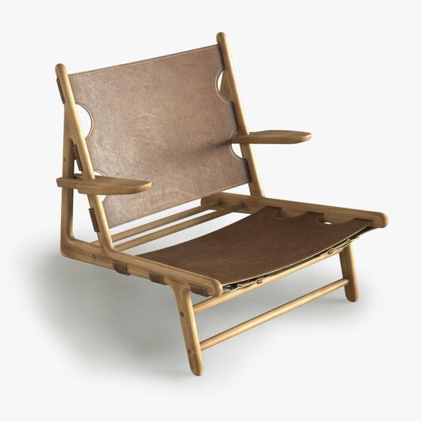 3d model mogensen hunting chair