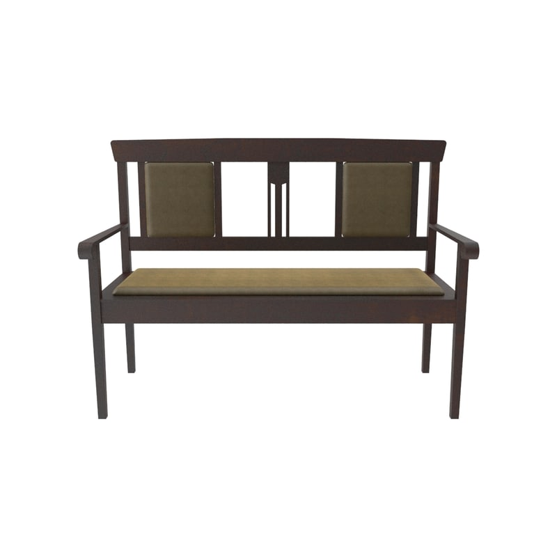3d model art nouveau sofa