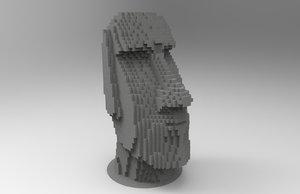 3d model building moai