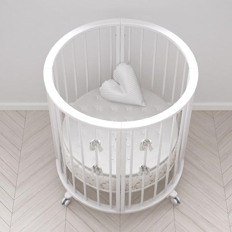 3d stokke crib white version