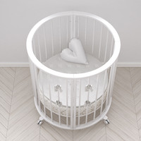 3d stokke crib white version