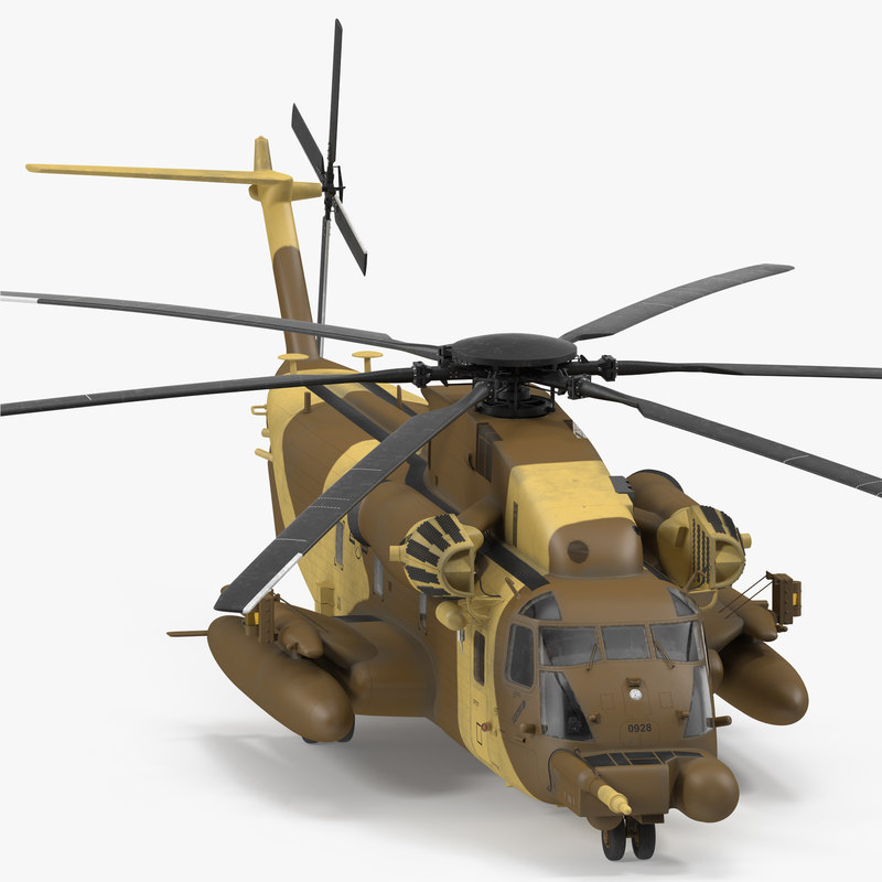 3d combat helicopter sikorsky mh model