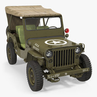 3d jeep willys 1944 convertible model