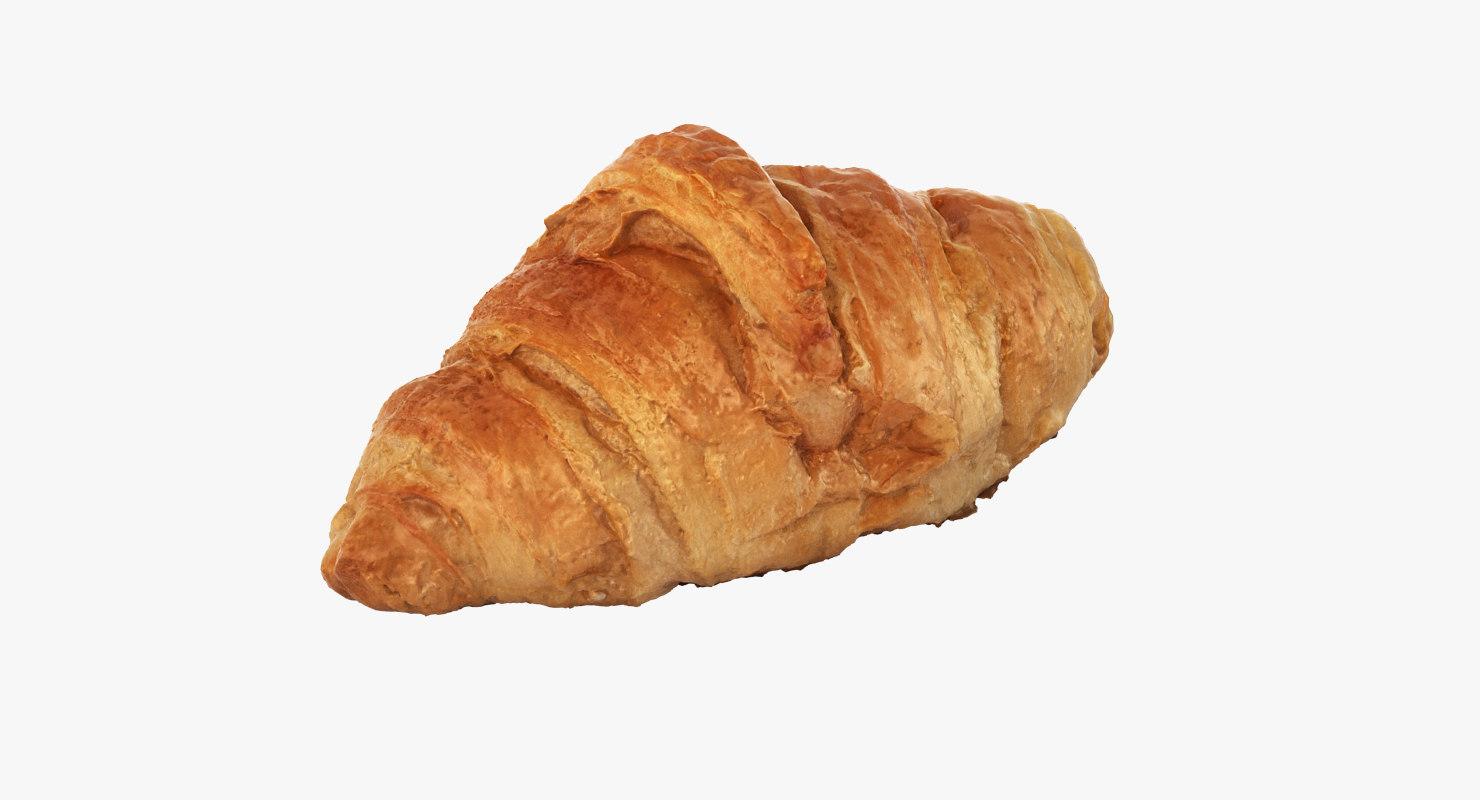 croissant scan realistic 3d obj
