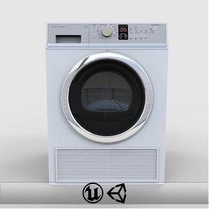 3d model dryer engine unreal