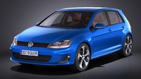 3d model volkswagen golf vii