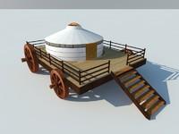 nomads yurt wheels 3d 3ds
