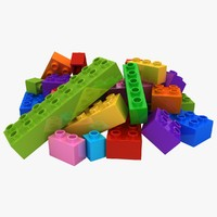 realistic lego bricks 2 fbx