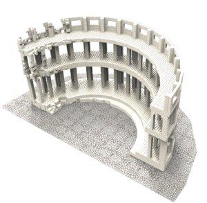 building colosseum 3d max