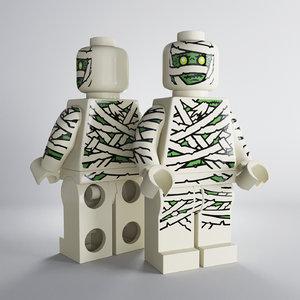 lego mummy 3d model