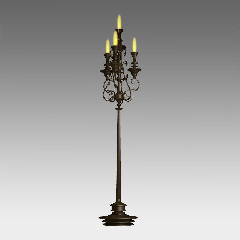 classic lamp 3d model