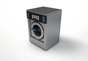 3d c4d industrial washing machine