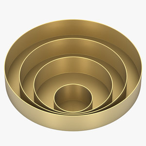 3d orbit trays small brass model