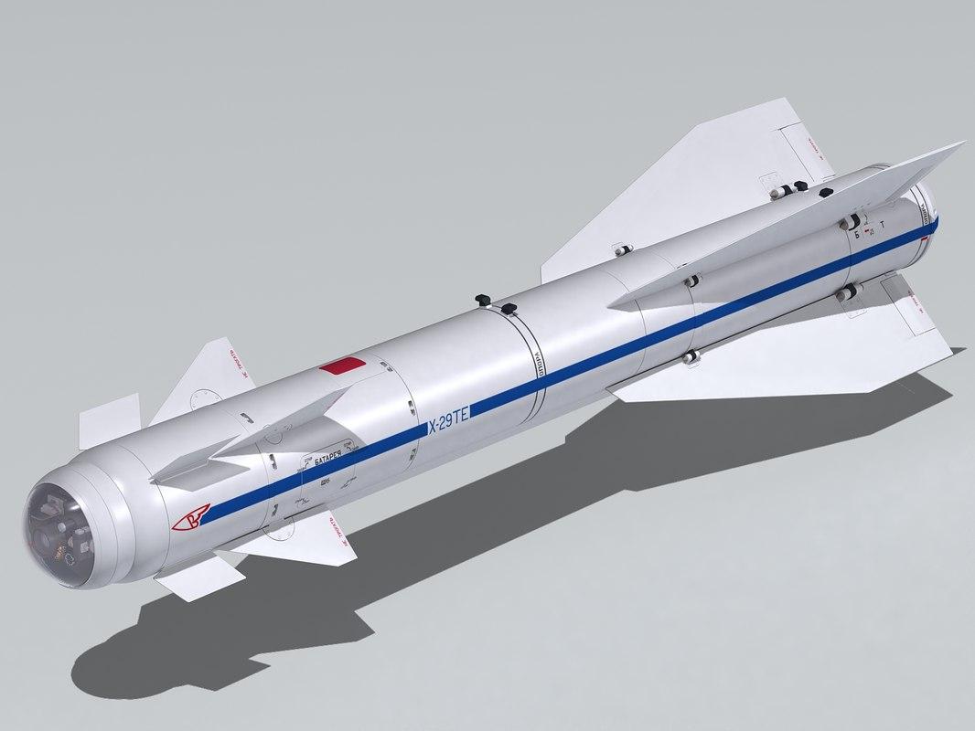 3d kh-29 missile kh-29te kh-29t model