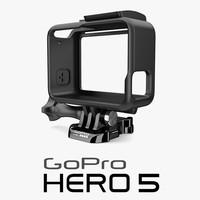 3d model gopro hero 5 housing