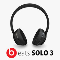 2 apple beats solo 3d model