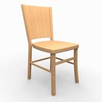 classic wooden chair 3d obj