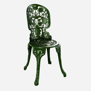 3d chair seletti industry aluminium model