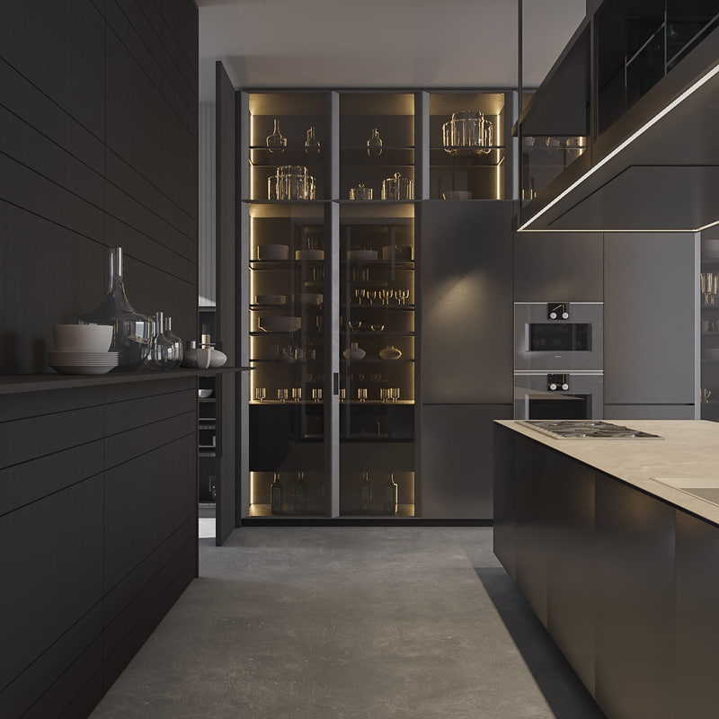 3d kitchen poliform varenna artex model - Poliform Kitchen