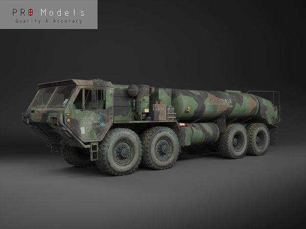 3d model of hemtt m978 oshkosh military
